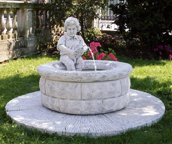 Eshop Fontana Da Giardino In Cemento Bianco E Graniglia