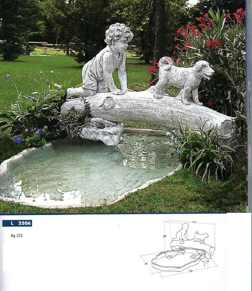 Eshop fontana da giardino in cemento e pvc con minikit for Vasca pvc laghetto
