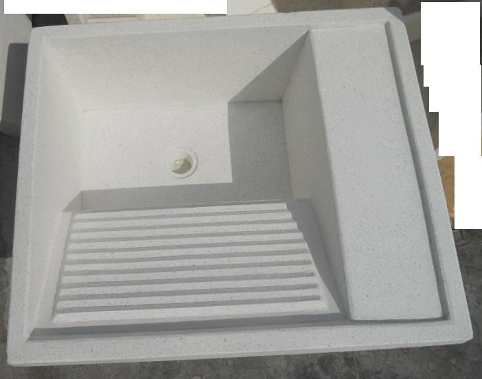 Eshop lavatoio a cassetta in granigl levig bianco panna - Lavatoio esterno ...