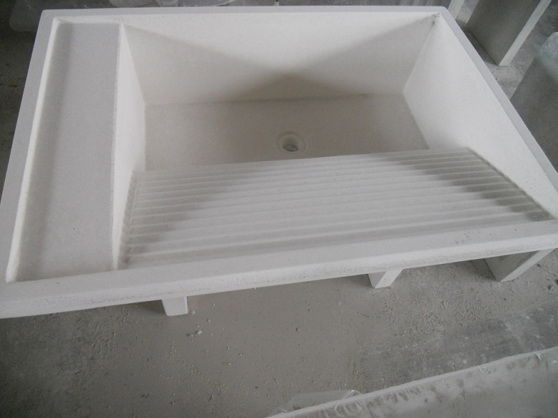 Eshop lavatoio no basi in graniglia levig bianca a - Lavatoio esterno ...